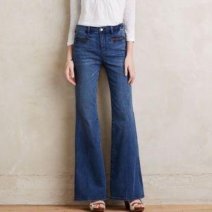 Pilcro Stet Flare Jeans High Waist Wide Leg Sz 29